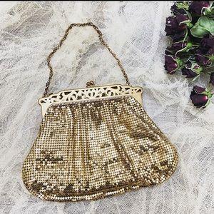 Whiting & Davis • 1930's Gold Mesh Bag